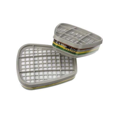 Ersatz-Gasfilter für Atemschutzmaske braun/gelb