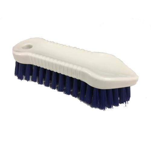 Fegbürste (blau) Kunststoff, spitzrund 18 cm