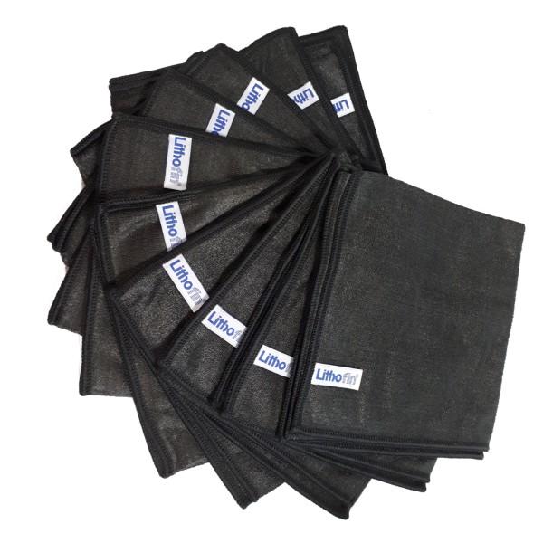 Lithofin Microfasertuch schwarz Set 10 Stück