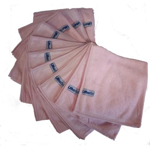 Lithofin Microfasertuch rosa Set 10 Stück