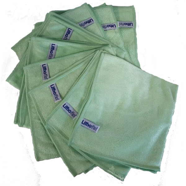 Lithofin Microfasertuch grün Set 10 Stück