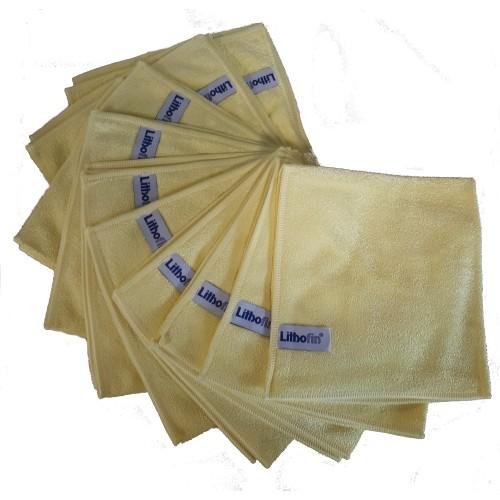 Lithofin Microfasertuch gelb Set 10 Stück