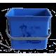 Eimer (blau) mit Sticker Lithofin Putzfee 6 l