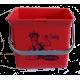 Eimer (fuchsia) mit Sticker Lithofin Putzfee 6 l