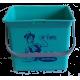 Eimer (türkis) mit Sticker Lithofin Putzfee 6 l