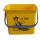 Eimer (gelb) mit Sticker Lithofin Putzfee 6 l