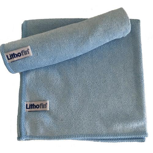 Lithofin Microfasertuch gewirkt blau
