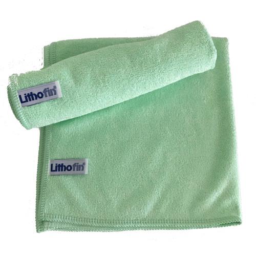 Lithofin Microfasertuch gewirkt grün