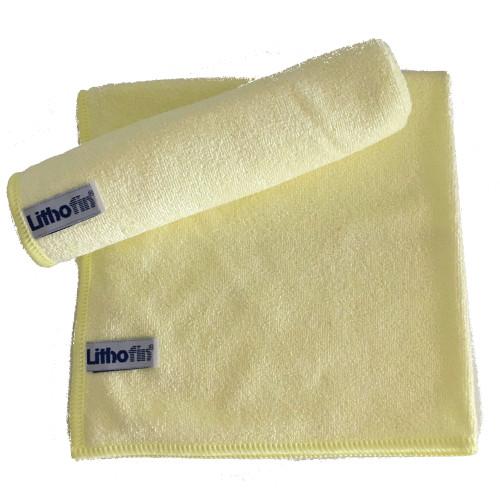 Lithofin Microfasertuch gewirkt gelb
