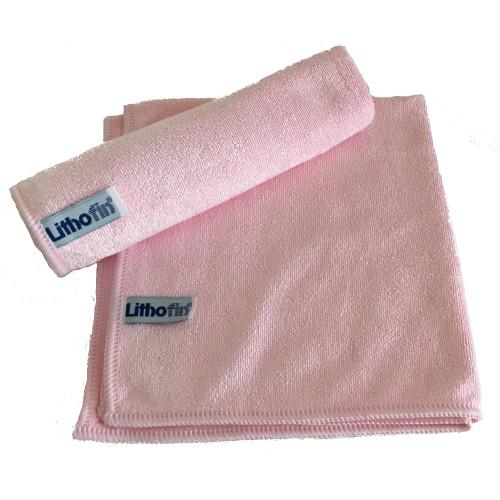 Lithofin Microfasertuch gewirkt rosa