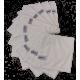Set chiffon en microfibres blanc 10 pièces
