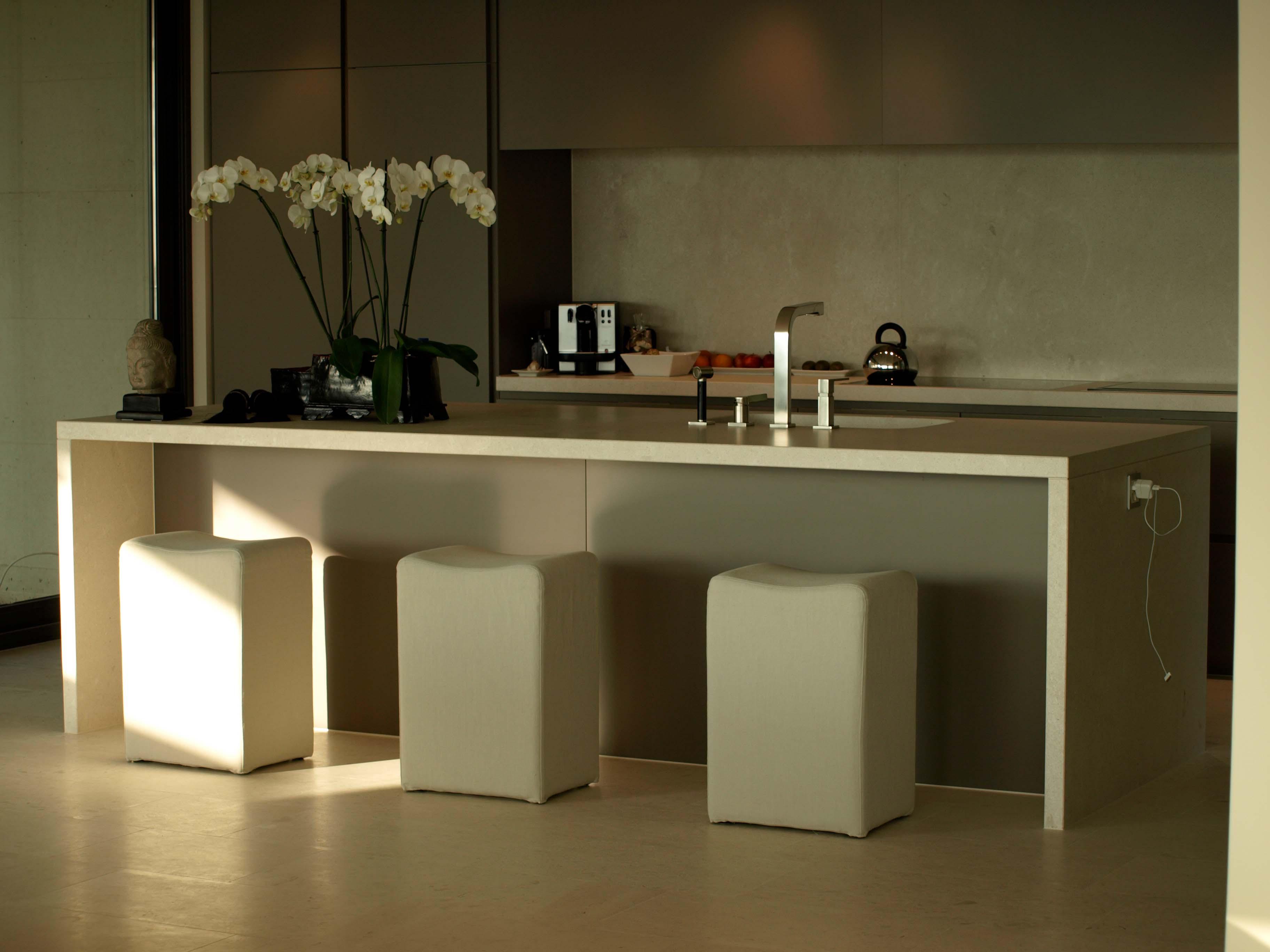Küche aus Limestone, imprägniert mit MN Fleckstop >ECO