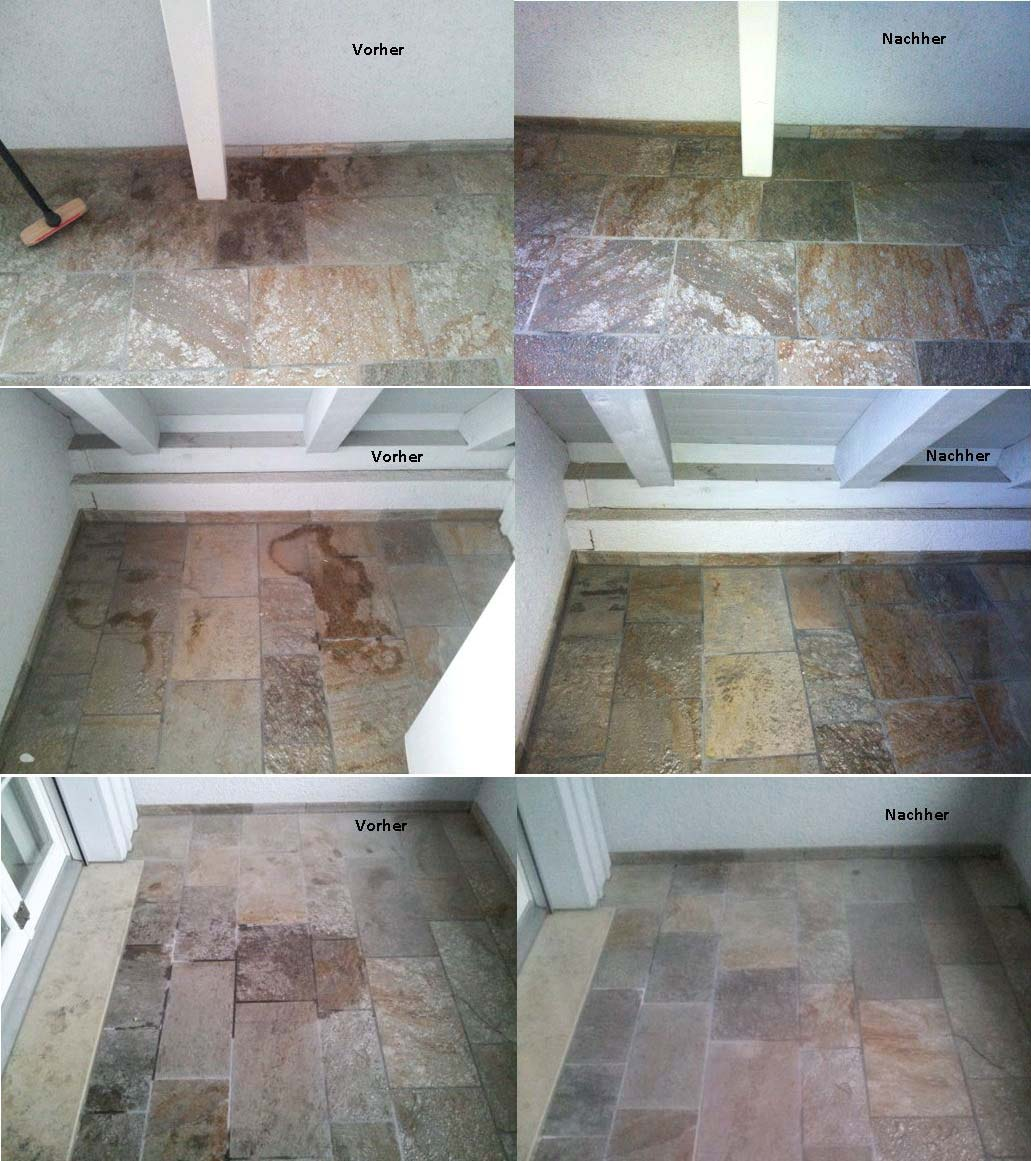 Reinigung: Wexa - Imprägnierung: Fleckstop